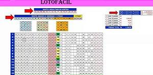 Planilha Lotofacil - 24 Dezenas Com 3 Fixas E Redução