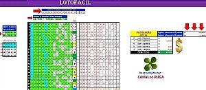 Planilha Lotofacil - 22 Dezenas Cercando Linhas Ou Colunas