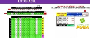 Planilha Lotofacil - Esquema 18 Dezenas Com Garantia