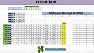 Planilha Lotofacil - 21 Dezenas Com 6 Fixas