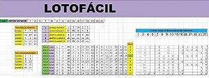 Planilha Lotofácil - Elabora 10 Bilhetes Equilibrados