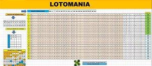 Planilha Lotomania - 40 Dezenas Fixas Em 80