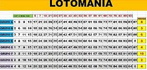 Planilha Lotomania - Esquema 25 Dezenas + Espelho
