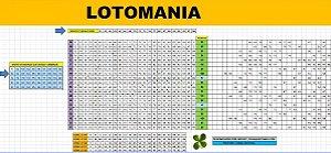 Planilha Lotomania - 50 Dezenas Combinadas Em Grupos De 25