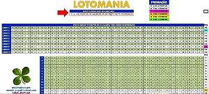 Planilha Lotomania - Jogue Com 10 Grupos De 60 Dezenas