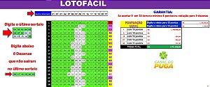Planilha Lotofacil - Esquema Para Acertar as Dezenas Repetidas do Último Resultado
