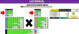 Planilha Lotofacil - Esquema de Cores para Ganhar 15 Pontos