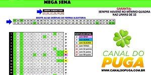 Planilha Mega Sena - Esquema 60 Dezenas com Redução e Garantia