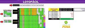 Planilha Lotofacil - Esquema com 25 Dezenas em 30 Jogos