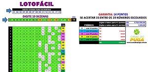Planilha Lotofacil - Esquema 19 Dezenas com Garantia de 14 Pontos