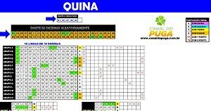 Planilha Quina - Esquema com 50 Dezenas Semi - Combinadas