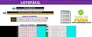 Planilha Lotofacil - 25 Dezenas em 3 Jogos de 16 e Redução para 10
