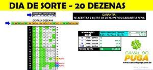 Planilha Dia de Sorte - Esquema com 20 Dezenas e Garantia de Sena