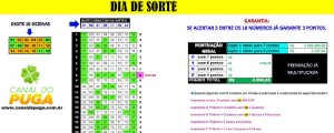 Planilha Dia de Sorte - 18 Dezenas Combinadas em Jogos de 8 Números