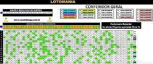 Planilha Lotomania - 76 Dezenas com Fechamento Reduzido