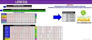 Planilha Lotofacil - Jogue com 6 Grupos De 17 Dezenas e Garantia