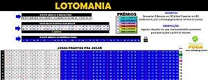 Planilha Lotomania - Esquema 84 Dezenas com Redução