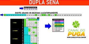 Planilha Dupla Sena - Esquema com 35 Dezenas em 20 Jogos