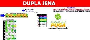 Planilha Dupla Sena - 30 Dezenas com Garantia mínima de Terno