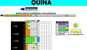 Planilha Quina - 30 Dezenas Combinadas em 24 Jogos