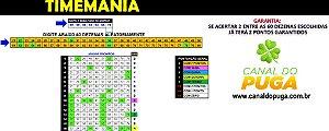 Planilha Timemania - 60 Dezenas Se Acertar 02 Já tem 02 Pontos