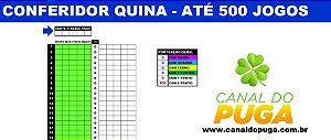 PLANILHA QUINA - CONFERIDOR DE ATÉ 500 JOGOS