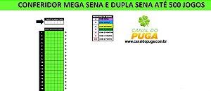 Planilha Mega Sena - Conferidor de Até 500 Jogos