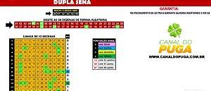 Planilha Dupla Sena - Jogue com 31 Grupos de 12 Dezenas Fechando Quadra
