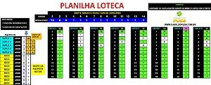 Planilha Loteca - Fechamento de 5 Duplos em Apenas 8 Jogos Simples