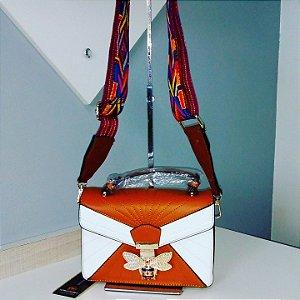 Bolsa Clutch Pingente Caramelo