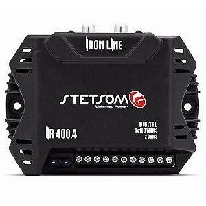 Módulo Amplificador Stetsom IR 400.4 DUOS 400 rms Iron Line 4 canais