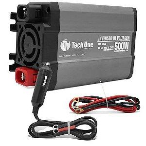 Inversor de Voltagem Tech One 500W 12V para 110V com USB