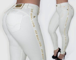 Calça Pit Bull Jeans Off White Com Bojo Ref 26921