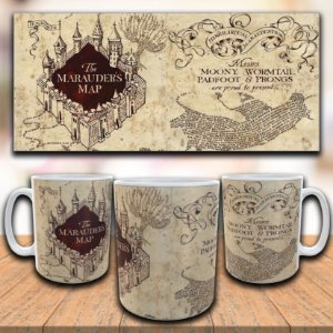 Caneca Mapa do Maroto - Harry Potter
