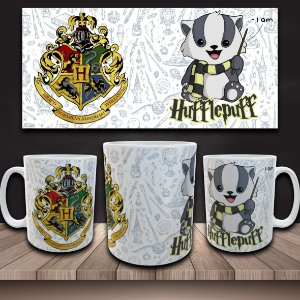 Caneca Harry Potter - Casa Lufa-Lufa - I am Hufflepuff