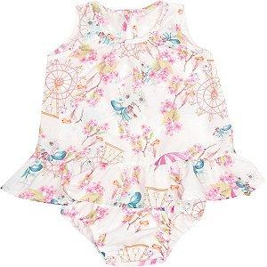 ◼ Kit Alenice bebê - Composto por: 32 peças, Grade: P M G, Sendo: Conjuntos, Vestidos e Avulsas