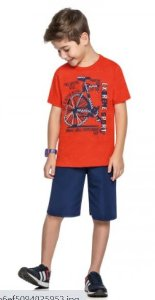 Kit masculino com 12 Conjuntos WRK Grade 4 ao 10 anos