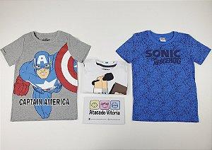 ◼ Kit BARATINHO Magazine - Camisetas Licenciadas - Composto por: 20 peças, Grade: 04 ao 10 - CÓD. 193 - IMAGENS REAIS.