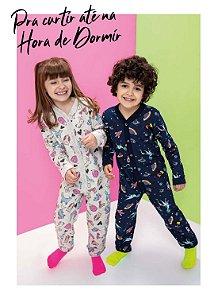 ◾ Kit Brandili Pijamas de Inverno, Composto por: 30 peças, Grade: 01 ao 16, Sendo: Conjuntos e Macacões. IMAGENS ILUSTRATIVAS