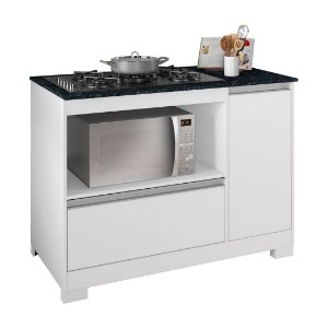 Balcão para fogão cooktop 5 bocas Branco NT3050 Notável