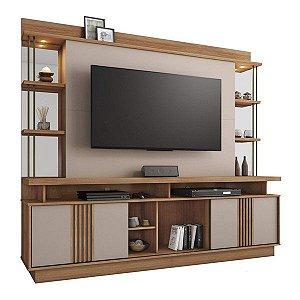 Estante Home com LED para TV ate 65 Polegadas Esplendor Noronha/Off White