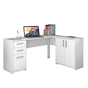 Mesa de Canto Office 2005 Branco Notável Móveis
