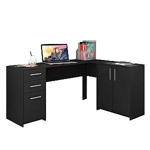 Mesa de Canto Office 2005 Preto Notável Móveis