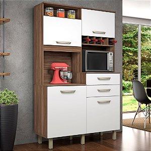 Armário de Cozinha Junior Cozinhas Nesher Nogal/Branco