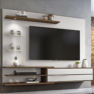 Painel com Led para TV até 60 polegadas NT1115 Off White/Nogal Notavel