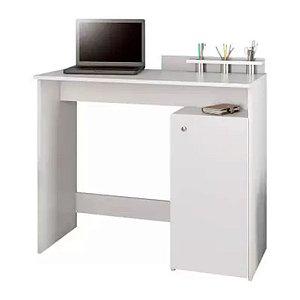 Escrivaninha com Porta Objetos 1 Porta 1 Prateleira Ciranda JCM Móveis Branco