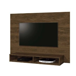 Painel para tv até 42 polegadas com nicho Fox Nogal