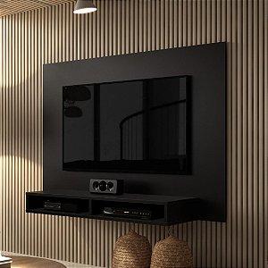 Painel para tv até 42 polegadas com nicho Fox Preto