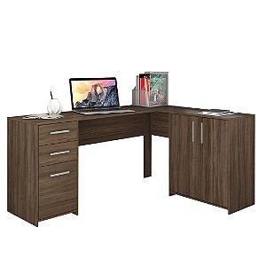 Mesa de Canto Office 2005 Nogal Trend Notável Móveis