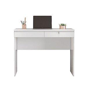 Escrivaninha com 2 gavetas e chave Felícia Branco Jcm Movelaria